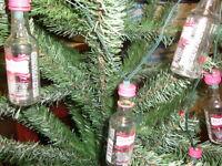 Set Of 10 Mini 50ml Party Lights/ornaments Liquor Bottles (choose Your Own)