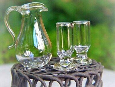 Miniature Dollhouse Green Glass Pitcher