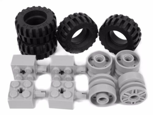 Wheel 30.4 x 14 mm large truck van LEGO City Technic WHEELS set of 4 Tire