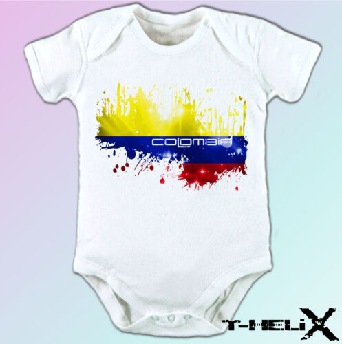 mens womens kids /& baby sizes white t shirt top design Colombia flag