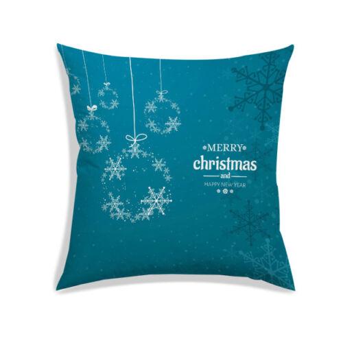 Joyeux Noël Housse de Coussin Satin Salon Canapé Couch Pillow Case Throw