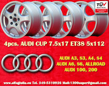 4 Cerchi AUDI Cup 7.5x17 Audi A3 A4 A6 100 200 Wheels Felgen TÜV