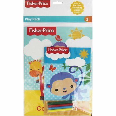 Fisher Price Play Pack Colouring Book Fun Activity Pre-school Stocking Filler