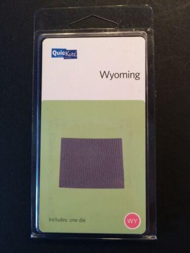 "New* Quickutz /""Wyoming/"" State 2/""x2/"" Cutting Die"