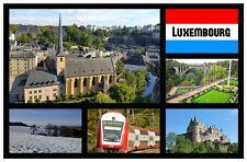 LUXEMBOURG - SOUVENIR NOVELTY SIGHTS FRIDGE MAGNET - BRAND NEW -  LITTLE GIFTS