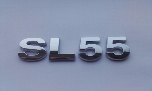 New Chrome 3D Self-adhesive Car Letters badge emblem sticker Spelling SL55