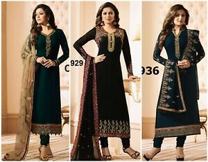 Salwar Kameez Indian Suit Designer Pakistani Dress Wear Ml Shalwar Stitched Ebay