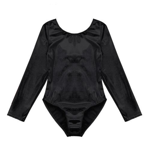 Girls Ballet Dance Gymnastics Unitard Dancewear Leotards Sparkle Bodysuit 3-12Y