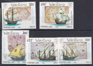 Laos-1992-Esposizione-filatelica-di-Genova-1046-50-MHN