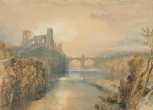 1825 Teesdale J.M.W Barnard Castle English Romanticism Art Poster TURNER