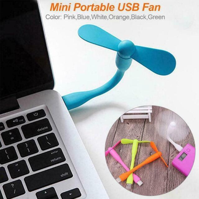 Original Xiaomi Portable Flexible USB Mini Fan For Power C2A3 Bank Laptop R8K6