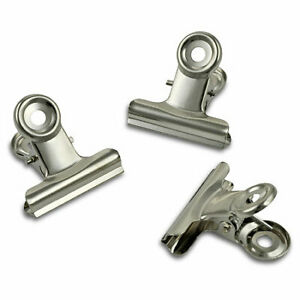 Metall-Briefklemmer 6 Stück 3cm metall Silberfarben Bulldog clips Meyco 65321