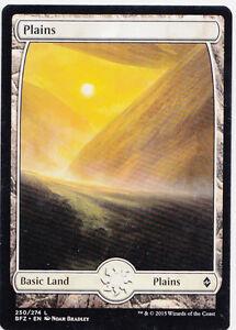 16X PLAINS FULL ART Basic Land Battle for Zendikar MTG Magic the Gathering