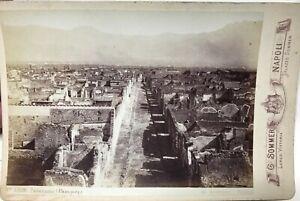Panorama Da Pompei Italia Foto Sommer PL17c2n49 Armadio Vintage Albumina