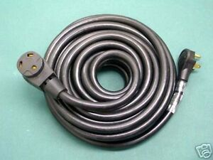 50 Foot 30 Amp Rv Extension Cord Power Supply Cable For