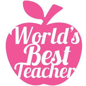 Worlds-Best-Teacher-vinyl-DIY-Sticker-glitter-Wine-BEER-PINT-Glass-Gift-8CM