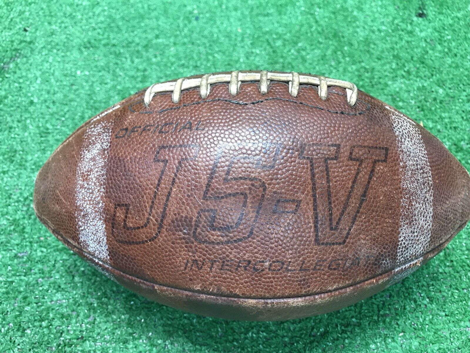 Vintage Spalding J5-V Official Intercollegiate T2 Dry Tannage  Football College
