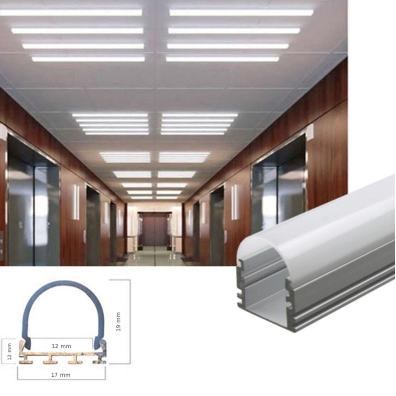 1m led aluminium alu profile leiste profilleiste schiene. Black Bedroom Furniture Sets. Home Design Ideas