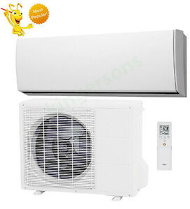 18000 btu fujitsu seer 19 ductless wall mounted heat pump air conditioner. Black Bedroom Furniture Sets. Home Design Ideas