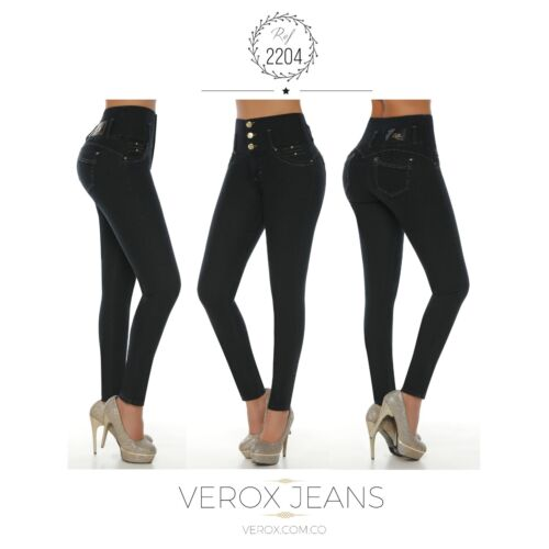Verox Jeans colombianos butt lifter fajas colombianas jeans levanta cola 2204