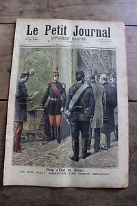 Petit-journal-illustre-N-128-1893-Coup-d-039-etat-Serbie-Emeutes-en-Belgique