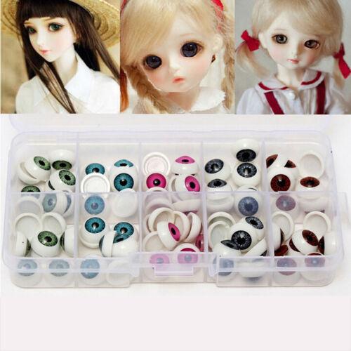 10 Pairs/Set 12mm Doll Eyeballs Half Round Acrylic Eyes for DIY Doll Bearv S6
