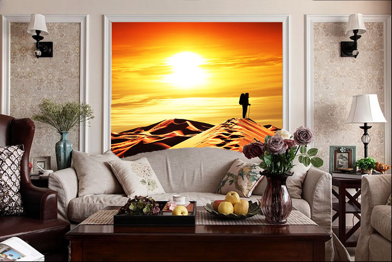 3D Sunset Desert Scenery 55 Wall Paper Wall Print Decal Wall Deco Indoor Mural