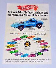 Hot Wheels 1968 Original Redline Ad Camaro Mustang Cheetah