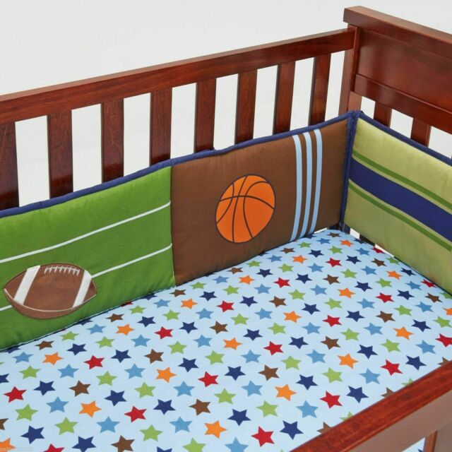 Little Bedding by Nojo High Five Sport 4-Piece Secure Me Bumper Set