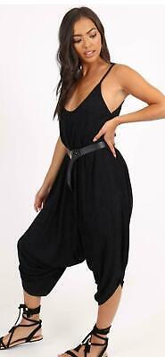 Womens V Neck Loose Baggy fit Summer//Beach//Party Jumpsuit Romper Harem Suit 8-14