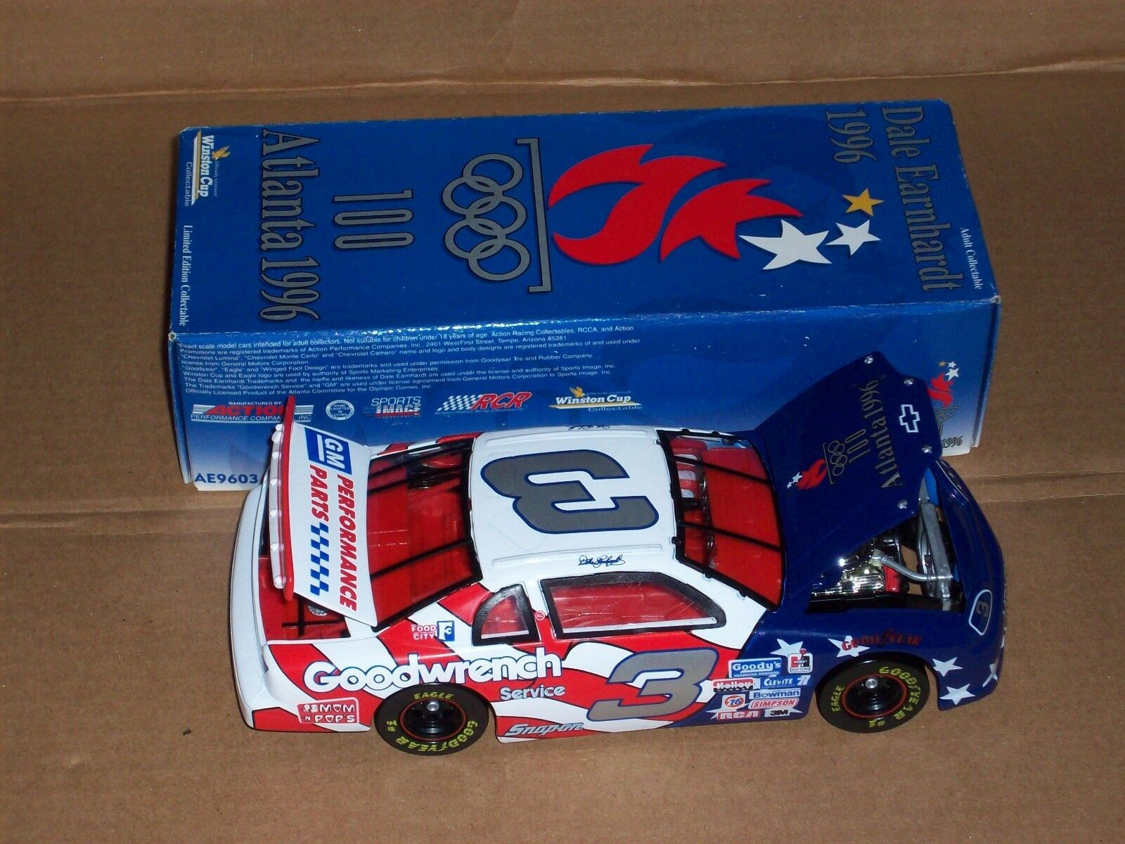 Dale Earnhardt 1996 Olympics Games Collection 1 24  Action Car