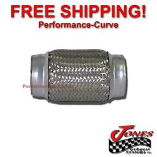 """20010D Exhaust Flex Pipe Stainless Steel Double Braid 2/"""" x 10/"""" OAL"""
