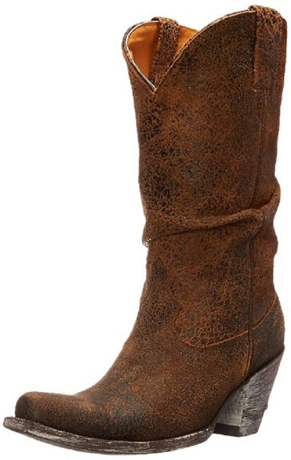 New Old Gringo Women's Sharpei Slouch Boot Rust Size 8 B US Retail $ 475