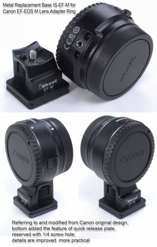 Replacement Base Foot Stand for Canon EF-EOS M Lens Adapter Ring to Tripod Head