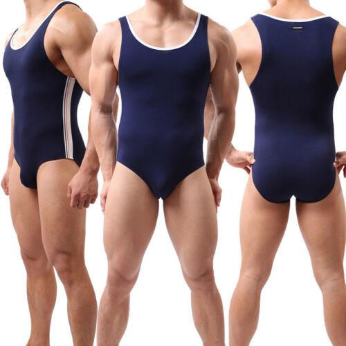 Men/'s Freestyle Bodysuit Wrestling Singlet Jumpsuit Underwear Fitness Leotard