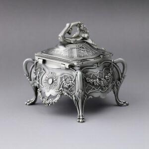 Details About Vintage Design Tin Alloy Music Box Birds Poem