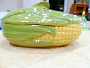 MCM-SHAWNEE-POTTERY-CORN-KING-74-LRG-CASSEROLE-W-LID-PRISTINE-EXCL-COND-1950-039-s