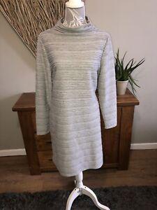 Per-UNA-M-amp-S-senoras-vestido-de-manga-larga-con-textura-gris-Talla-16