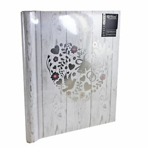 Photo-Album-Wedding-White-Silver-Floral-Heart-amp-Birds-Design-Self-Adhesive