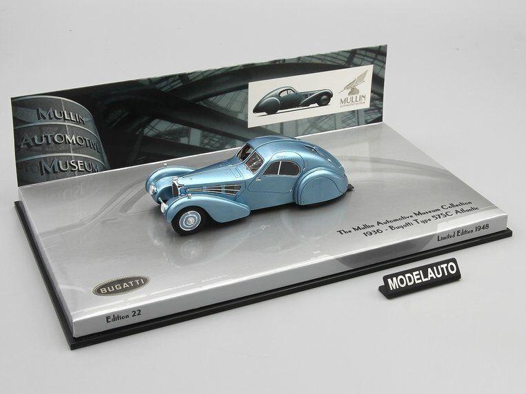 Minichamps 1 43 Bugatti Type 57SC Atlantic 1936 bleu L.E. 1948 pcs.
