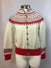 VTG Women's Handmade Nordic Wool Cardigan Sweater William Schmidt Oslo Norway S