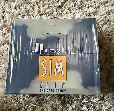 sim city the card game 2 Starter Decks and 36 pack Booster Box  Factory Sealed