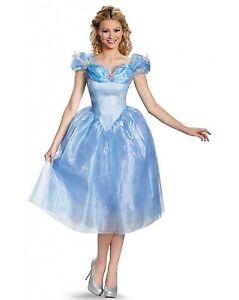 Image is loading NEW-Adult-Disney-039-s-Cinderella-Movie-Deluxe-  sc 1 st  eBay & NEW Adult Disneyu0027s Cinderella Movie Deluxe Dress Princess Halloween ...