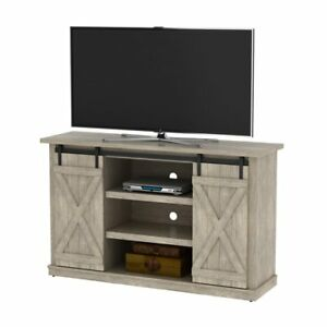 Rustic Farmhouse Style Barn Door TV Stand 60 inch Entertainment