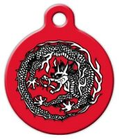 Chinese Dragon - Custom Personalized Pet Id Tag For Dog And Cat Collars