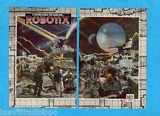 TOP986-PUBBLICITA'/ADVERTISING-1986- MB TOYS- ROBOTIX (versione B) - 2 fogli