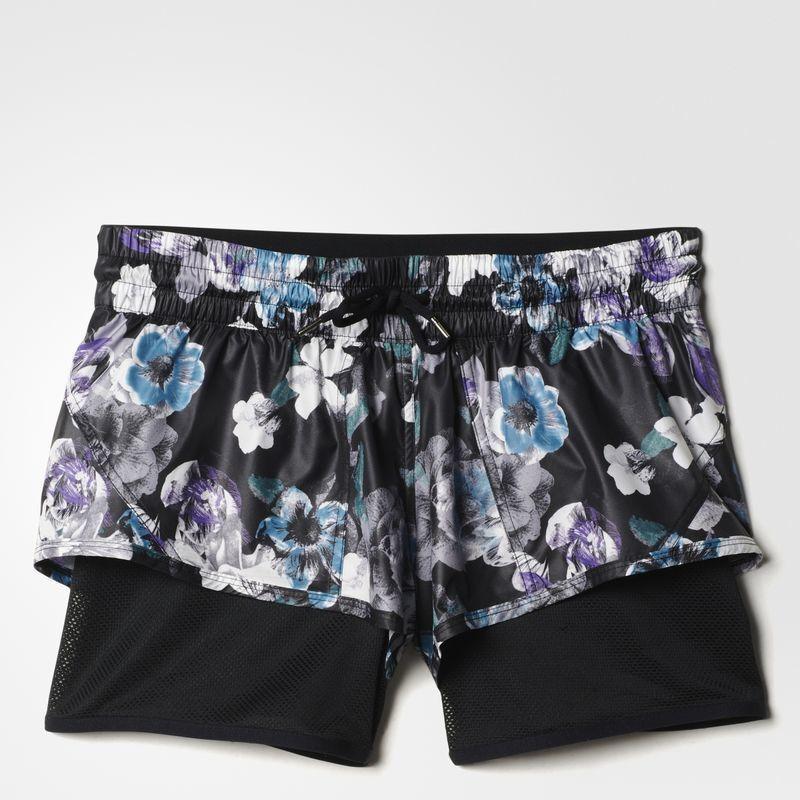 Adidas Stella McCartney Women's Run 2-in-1 Floral Shorts Size M FREE SHIP AX7269