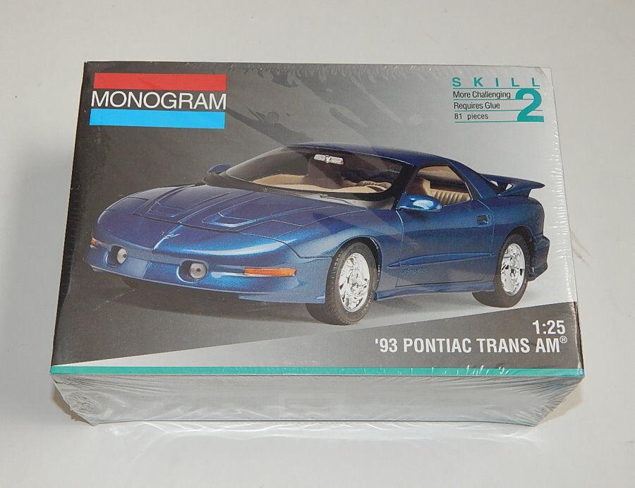 1 25 Monogram '93 Pontiac Trans Am model kit SEALED R11945