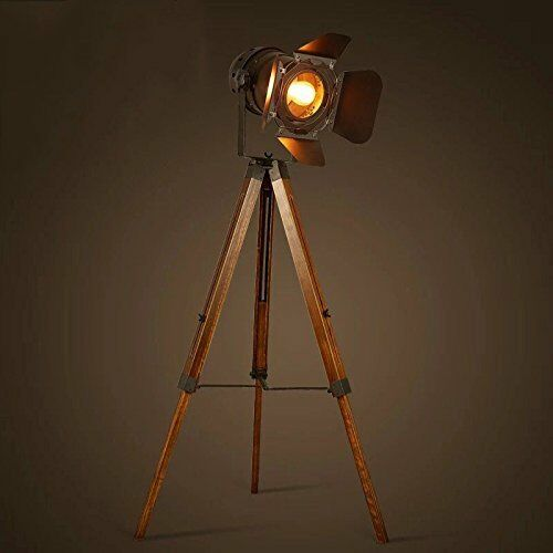 Retro Style Spot Light Lamp Wooden