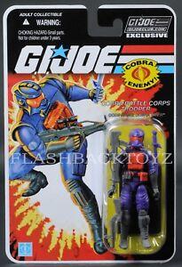 2017 Gi Joe Club Exclusif Cobra Viper Combattant du Corps de bataille Fss 5.0 Moc
